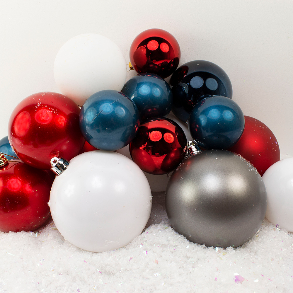 Bauble Pack - Blue White Red Baubles