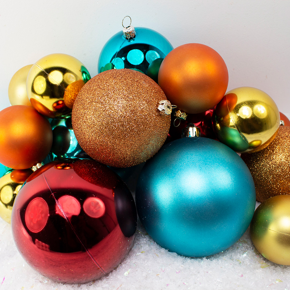Bauble Pack - Gold Orange Burgundy Turquoise Baubles