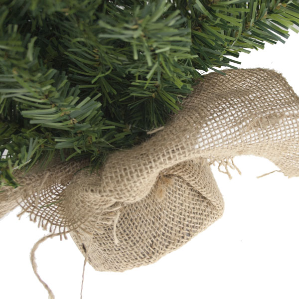 Artificial Green Tree In Jute Bag - 90cm (3ft)