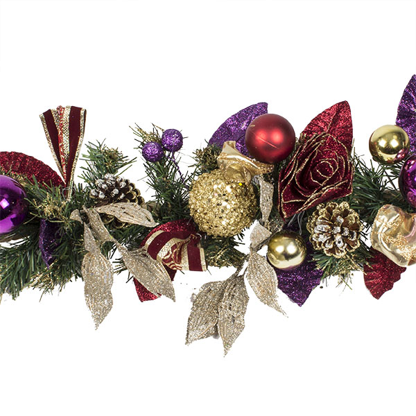 Spiced Wine Christmas Room Decoration Collection - 1.5m Garland