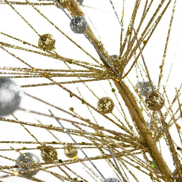 Gold & Silver Sparkle Burst Display Tree - 100cm