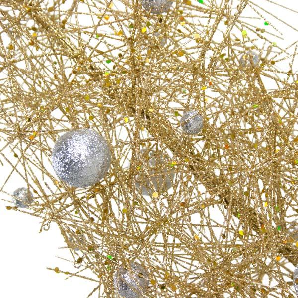 Gold & Silver Sparkle Burst Slim Table Top Tree - 65cm