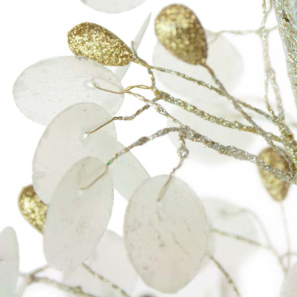 Capiz Shell Table Top Tree With Gold Teardrop Berries - 38cm