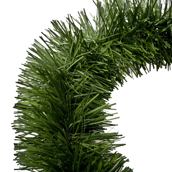 Two tone green tinsel garland m mm christmas time uk