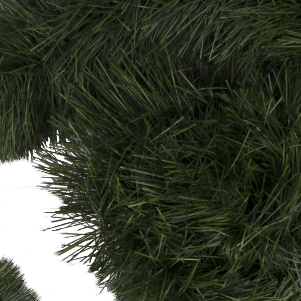 Chunky Cut Matt Green Display Tinsel Garland  - 10m x 200mm