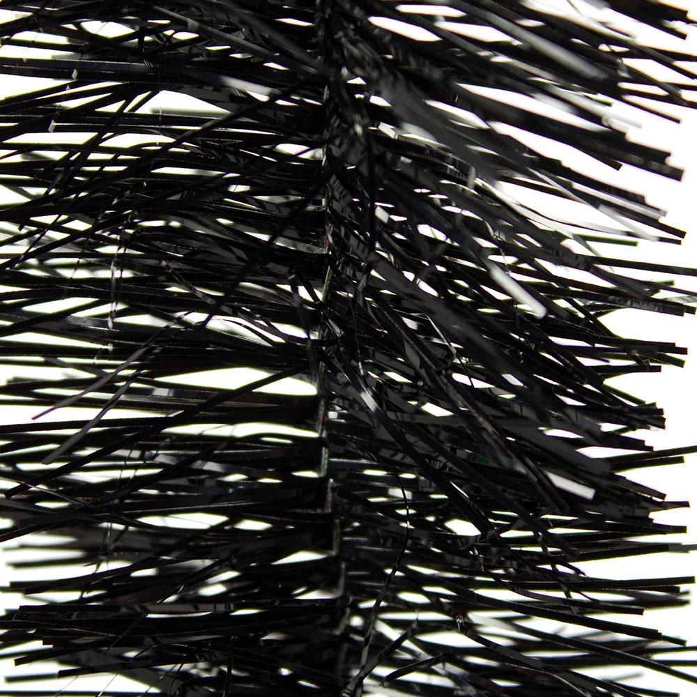 Black Shiny Tinsel Garland - 75mm X 2.7m