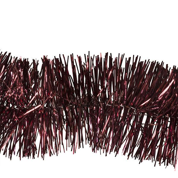 Dark Red Shiny Tinsel Garland - 75mm X 2.7m