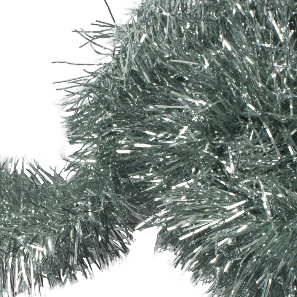 Pale Sage Green Shiny Tinsel Garland - 75mm X 2.7m