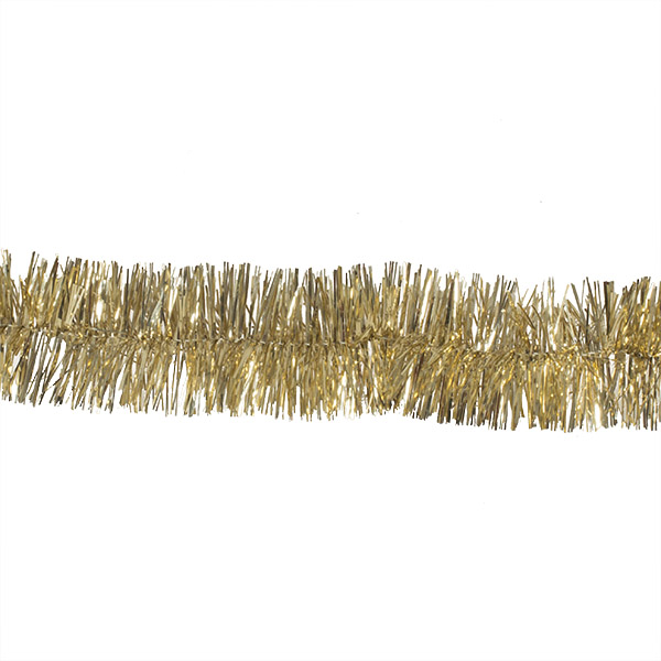 Gold Shiny Tinsel Garland - 2m X 75mm