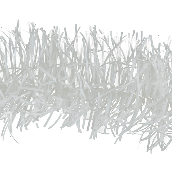 White Shiny Tinsel Garland - 2m X 75mm