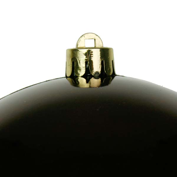 Ebony Brown Baubles - Shatterproof - Single 140mm