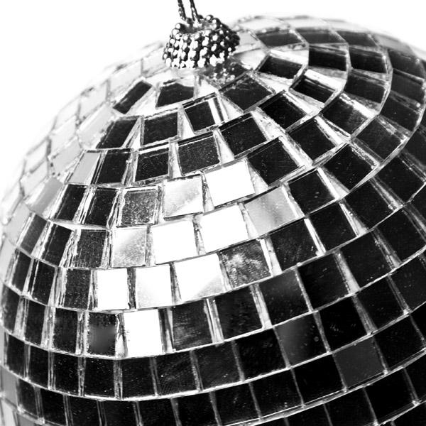 Shatterproof Silver Mirror Baubles - 1 x 150mm
