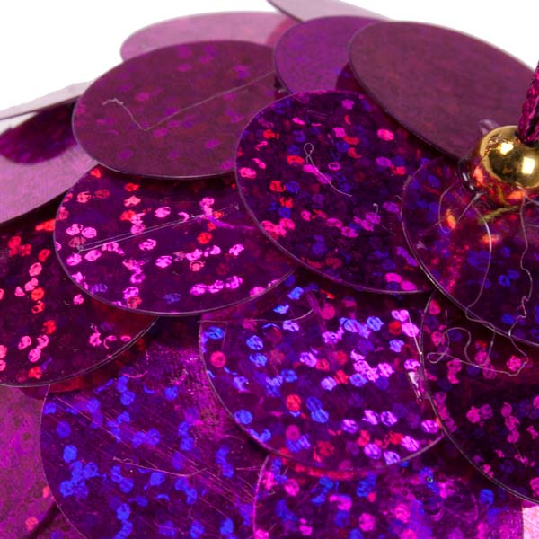 Fuchsia Sequin Bauble - 80mm