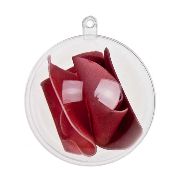 Clear Splittable Bauble - 60mm