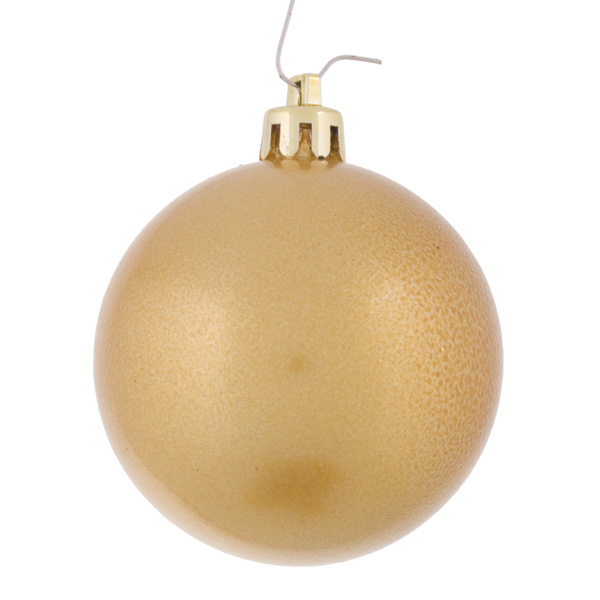 Metallic Gold Baubles Shiny Shatterproof - Pack Of 18 x 60mm