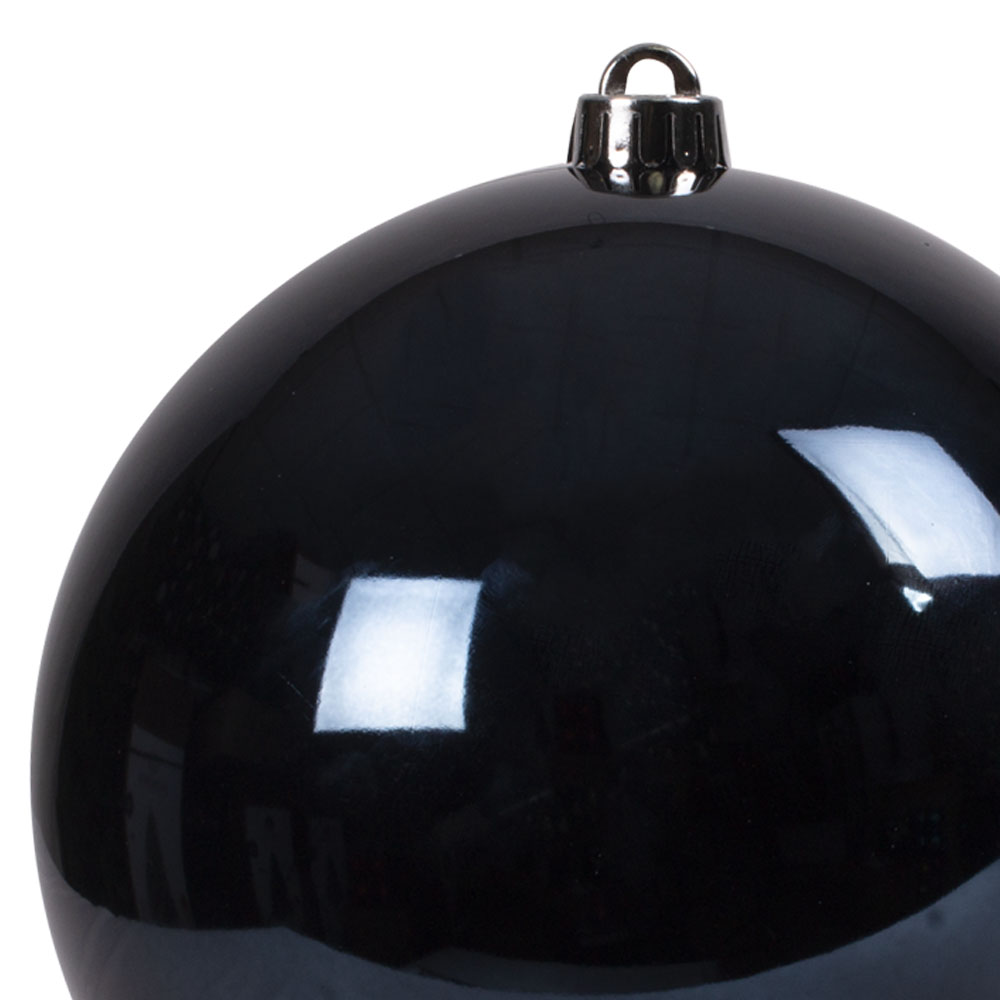 Dark Blue Baubles Shiny Shatterproof - Single 200mm