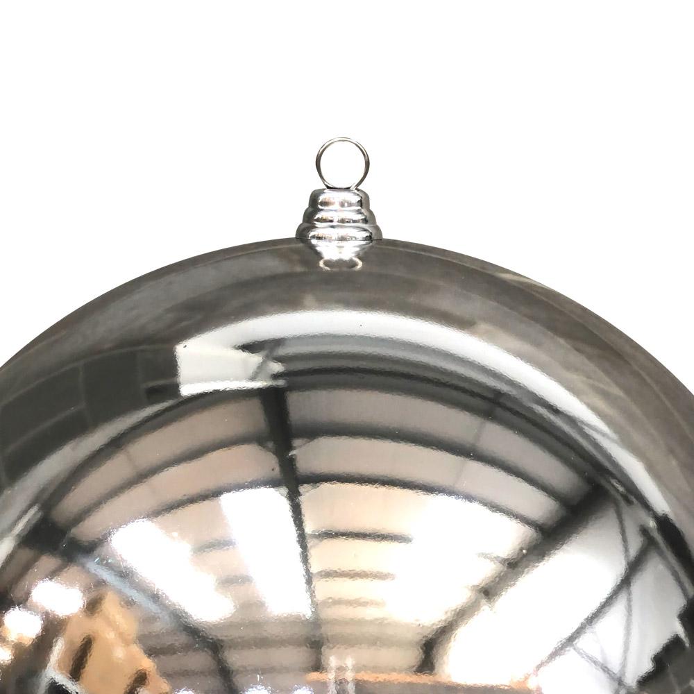 Silver Baubles Shiny Shatterproof - Single 400mm