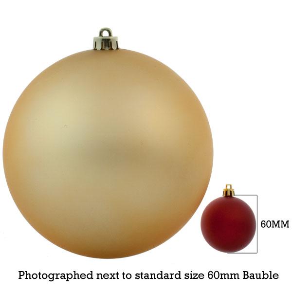 Gold Shatterproof Baubles  - Single 200mm Matt