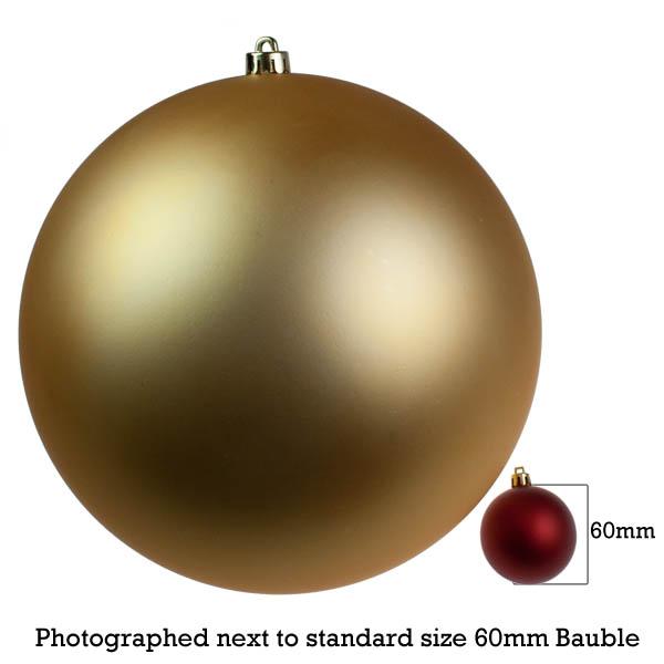 Gold Shatterproof Baubles  - Single 300mm Matt