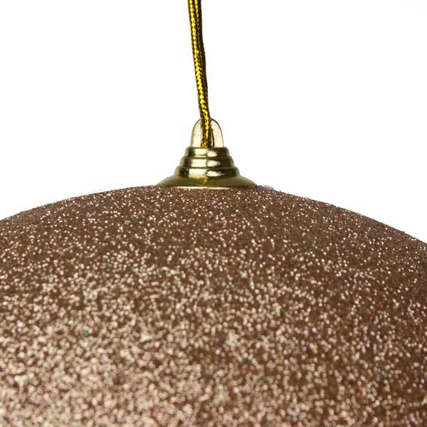 Champagne Shatterproof Glitter Bauble - 250mm