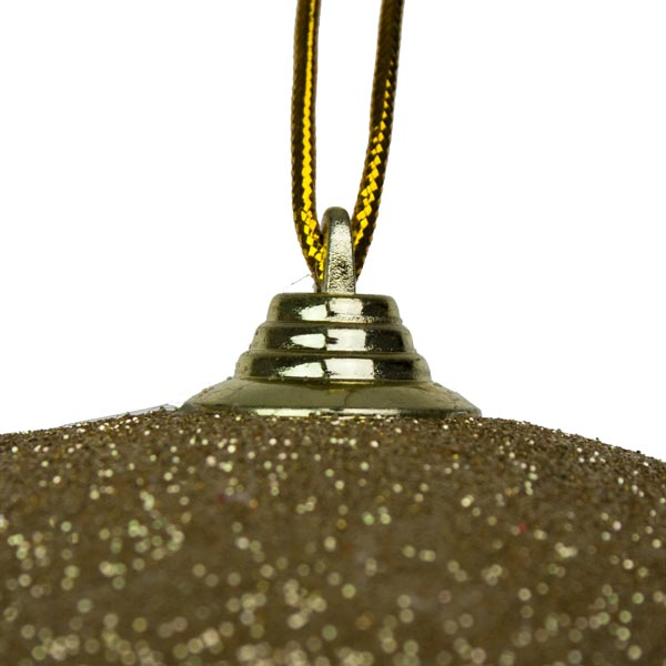 Gold Shatterproof Glitter Bauble - 135mm