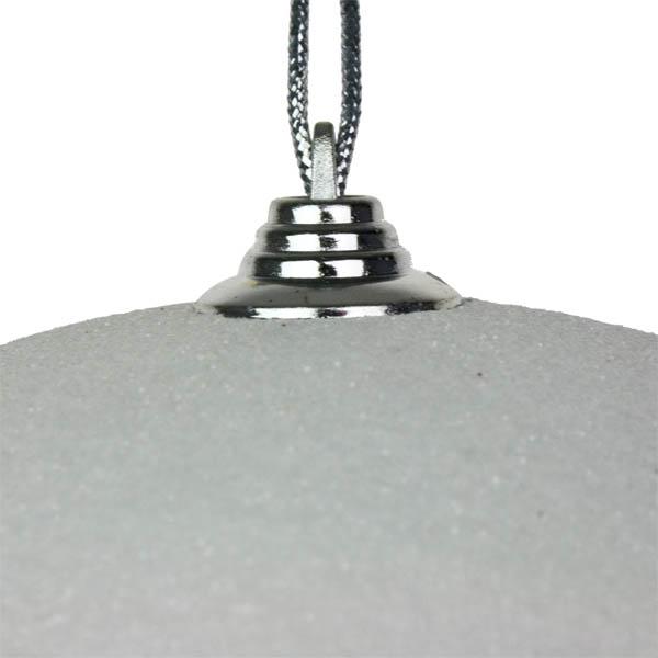 White Shatterproof Glitter Bauble - 250mm