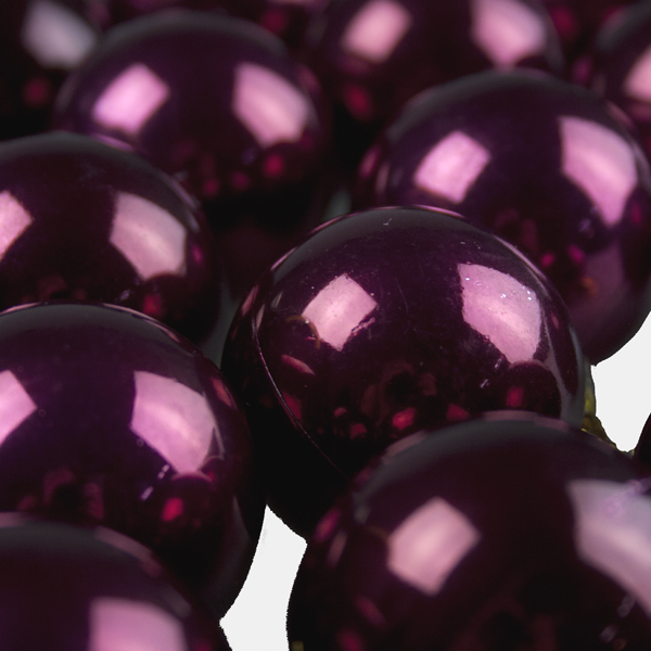 Pearlised Claret Shatterproof Baubles - 18 x 40mm