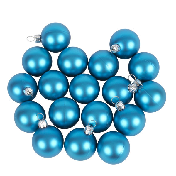 Luxury Aqua Turquoise Satin Finish Shatterproof Baubles - Pack of 18 x 40mm