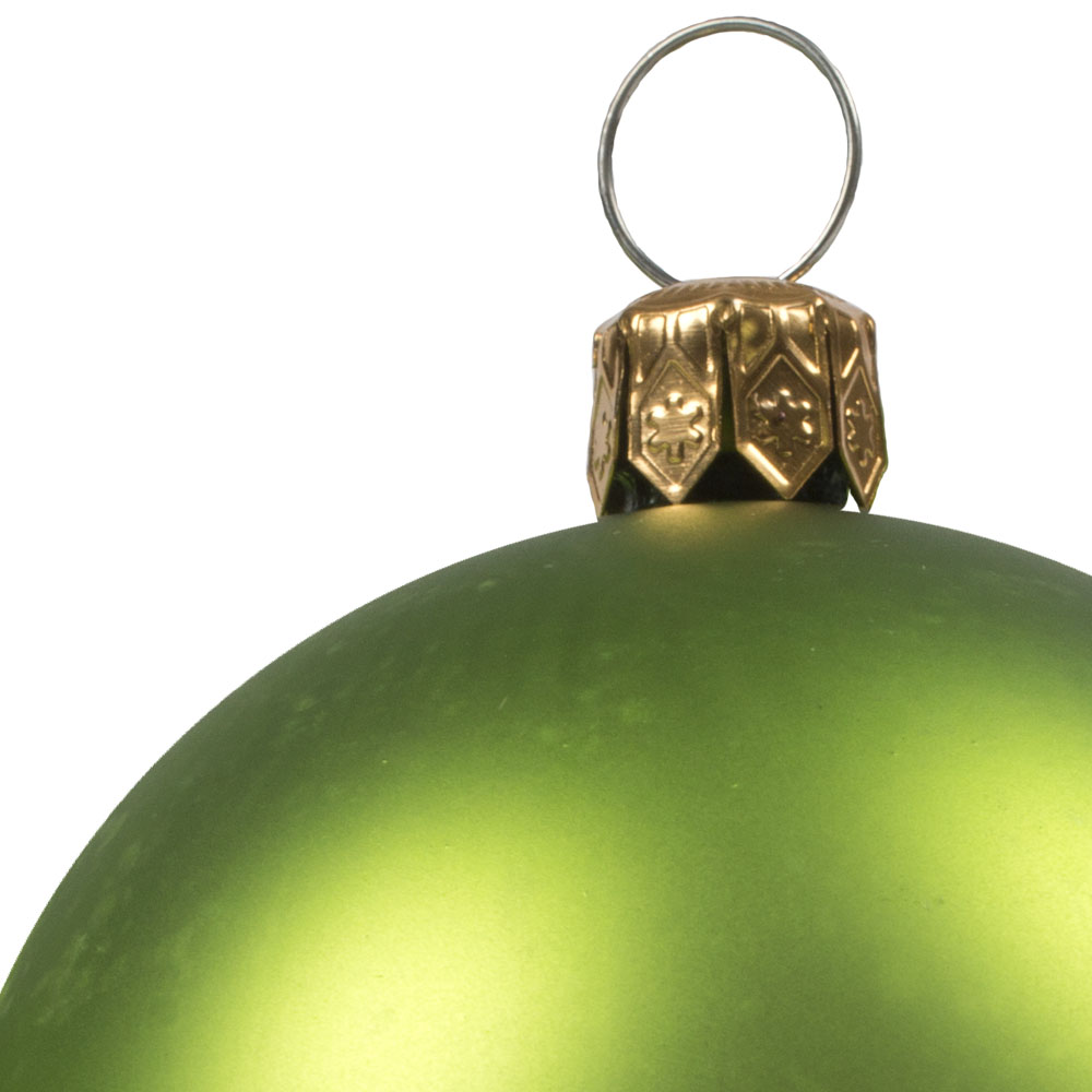 Luxury Lime Green Satin Finish Shatterproof Baubles - Pack of 18 x 60mm