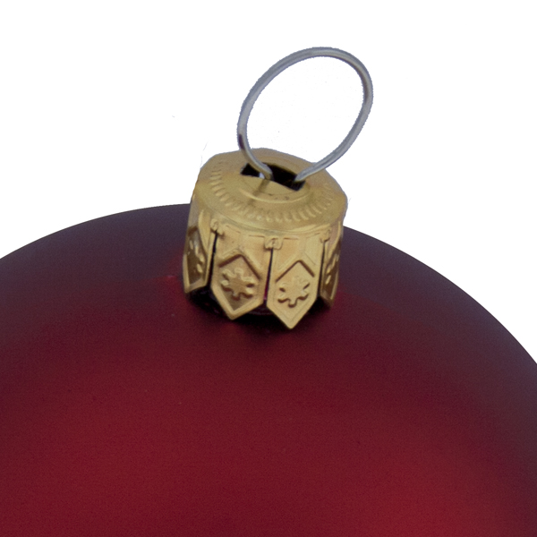 Luxury Red Satin Finish Shatterproof Baubles - Pack of 18 x 60mm