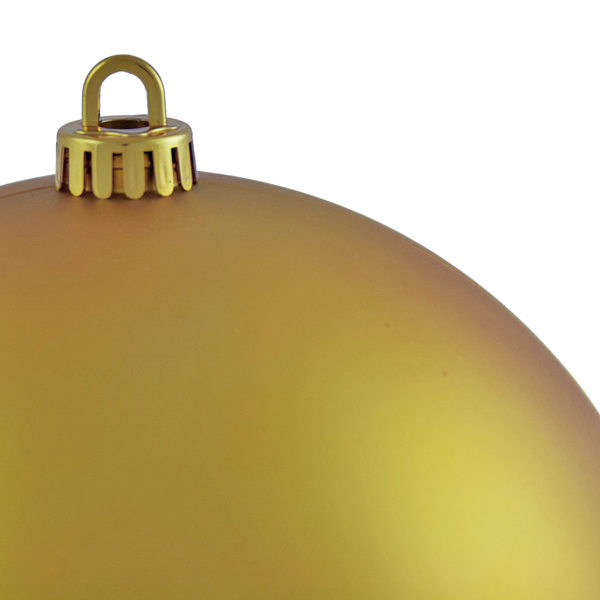 Luxury Gold Satin Finish Shatterproof Baubles - Single 200mm