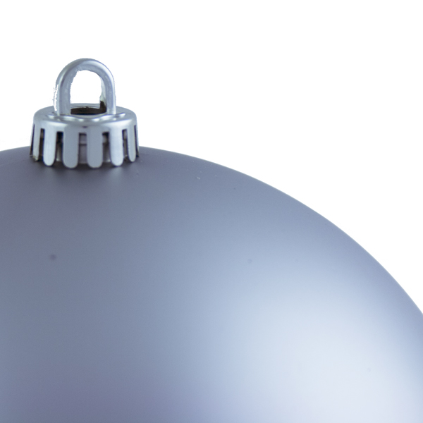 Luxury Silver Satin Finish Shatterproof Baubles - Single 200mm