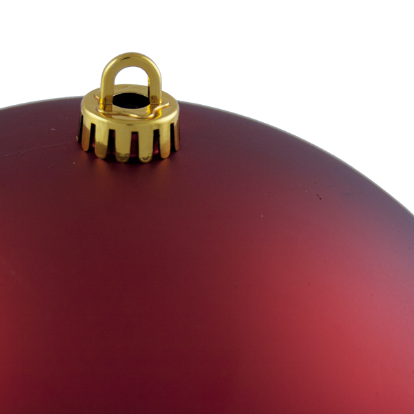 Luxury Red Satin Finish Shatterproof Baubles - Single 250mm