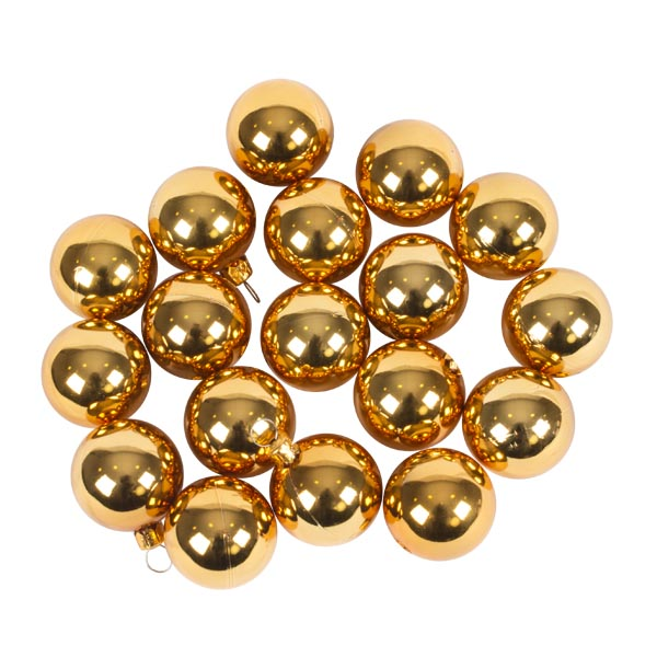 Luxury Rose Gold Shiny Finish Shatterproof Bauble Range - Pack of 18 x 40mm