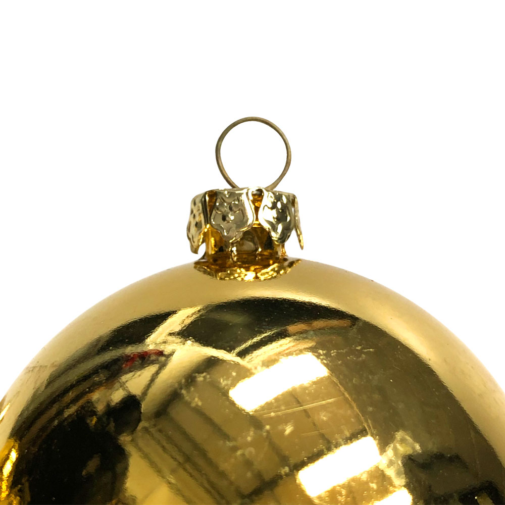 Luxury Pale Gold Shiny Finish Shatterproof Bauble Range - Pack of 18 x 60mm