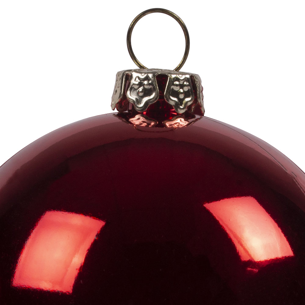 Luxury Red Shiny Finish Shatterproof Bauble Range - Pack of 18 x 60mm