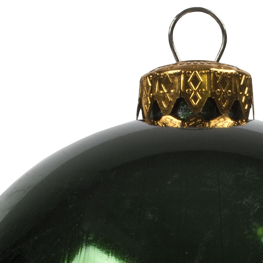 Luxury Green Shiny Finish Shatterproof Bauble Range - Pack of 4 x 100mm
