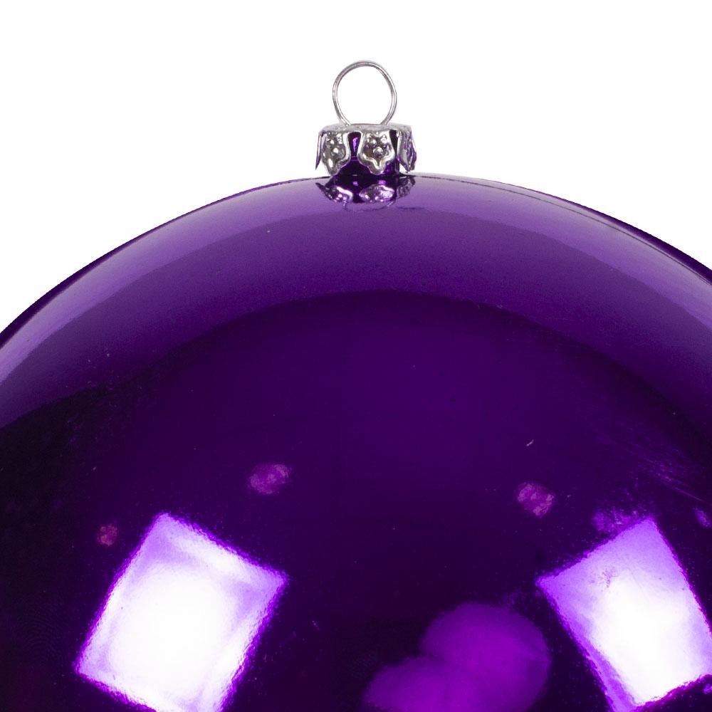 Luxury Purple Shiny Finish Shatterproof Bauble Range - Pack of 4 x 140mm