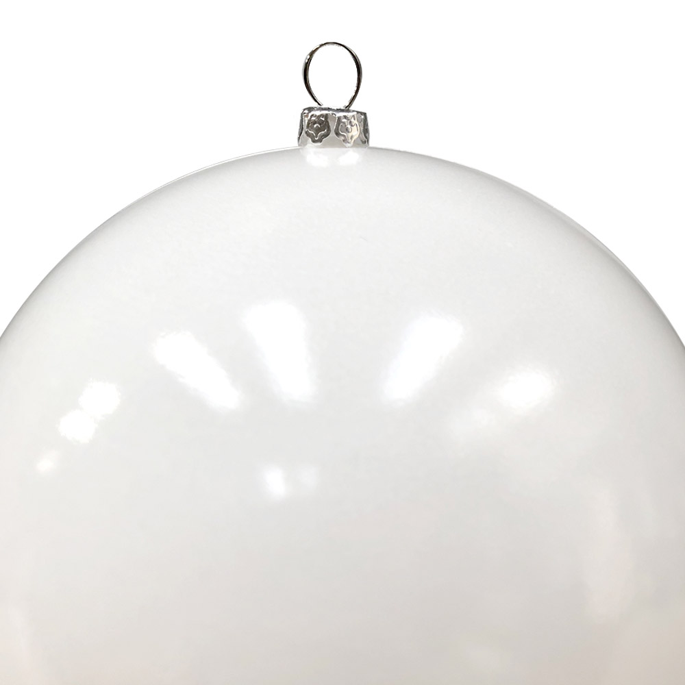 Luxury White Shiny Finish Shatterproof Bauble Range - Pack of 4 x 140mm