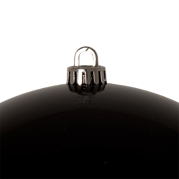 Luxury Black Shiny Finish Shatterproof Bauble Range - Single 250mm