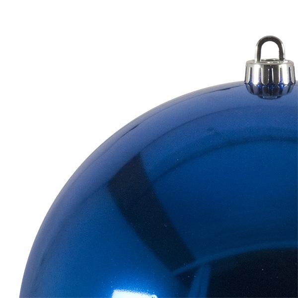 Luxury Electric Blue Shiny Finish Shatterproof Bauble Range - Single 250mm