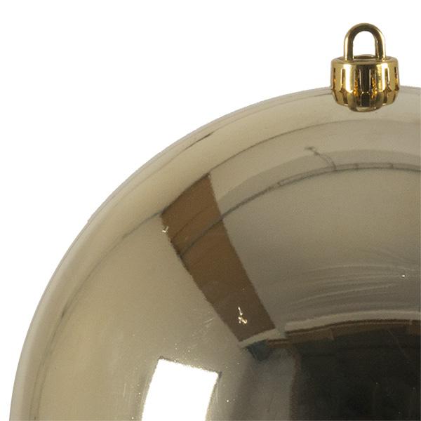 Luxury Pale Gold Shiny Finish Shatterproof Bauble Range - Single 250mm