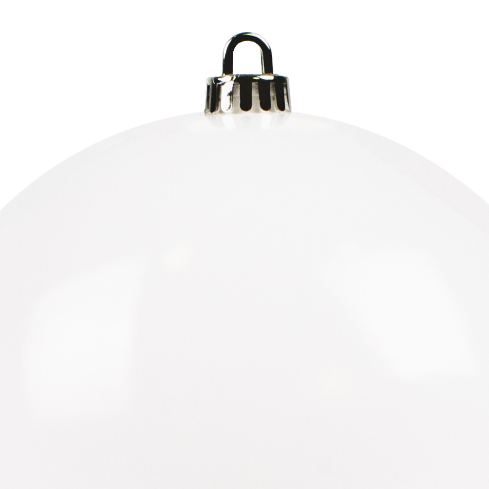 Luxury White Shiny Finish Shatterproof Bauble Range - Single 250mm