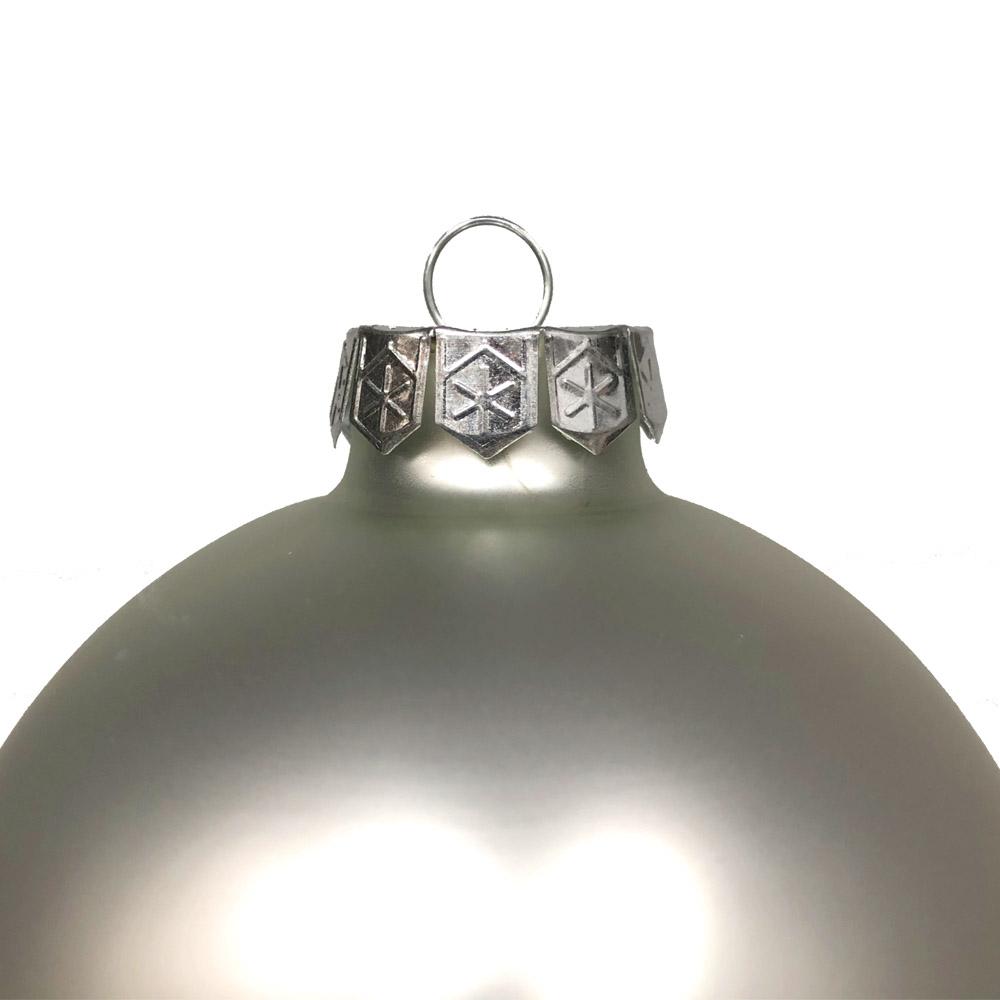 Silver Matt & Shiny Glass Baubles - 9 x 100mm