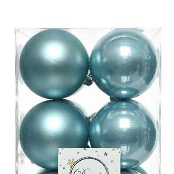 Arctic Blue Fashion Trend Shatterproof Baubles - Pack of 12 x 60mm
