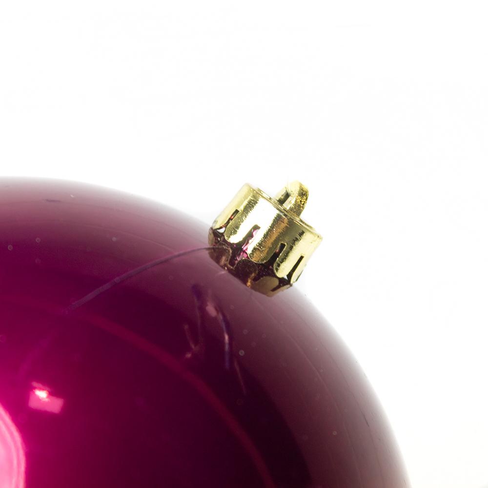 Deep Magnolia Pink Fashion Trend Shatterproof Baubles - Single 140mm