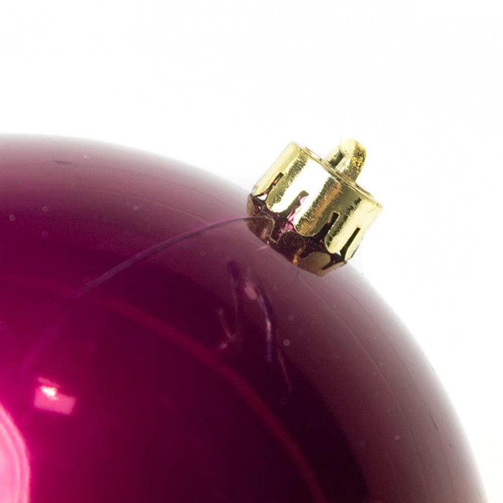 Deep Magnolia Pink Fashion Trend Shatterproof Baubles - Single 200mm