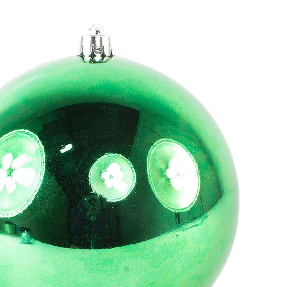 Holly Green Fashion Trend Shatterproof Baubles - Single 140mm