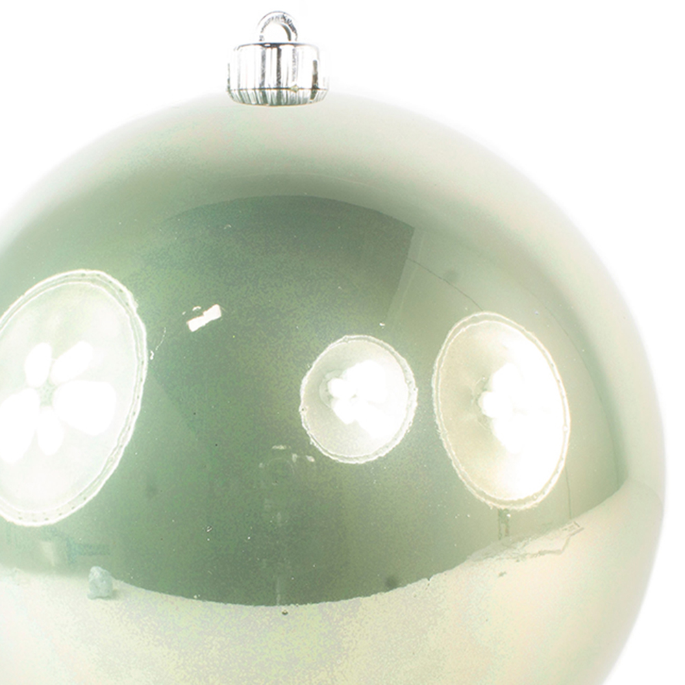 Sage Green Fashion Trend Shatterproof Baubles - Single 200mm