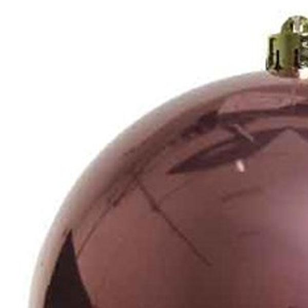 Velvet Pink Fashion Trend Shatterproof Baubles - Single 200mm